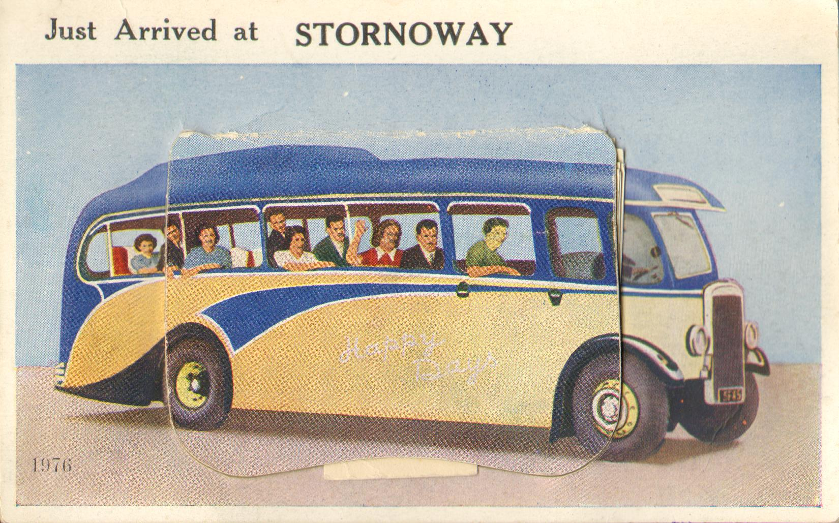 Just arrived at Stornoway postcard