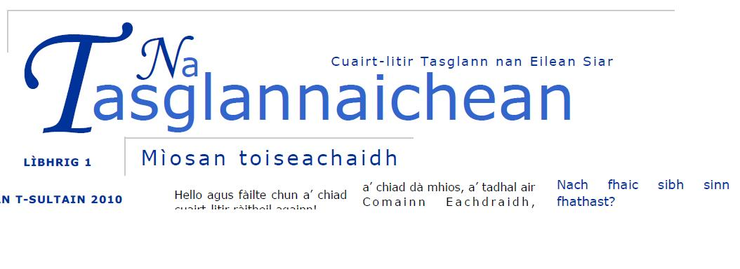 An Tasglannaichean - Newsletter of the Hebridean Archives Project