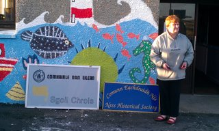 CEN Chair, Annie Macsween, outside Cross School