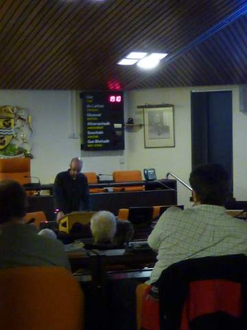 David talking to Stornoway Historical Society