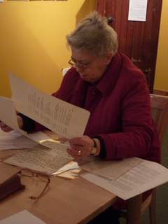 Isa works on a collection of letters relating to HH Mackenzie, factor of North Uist