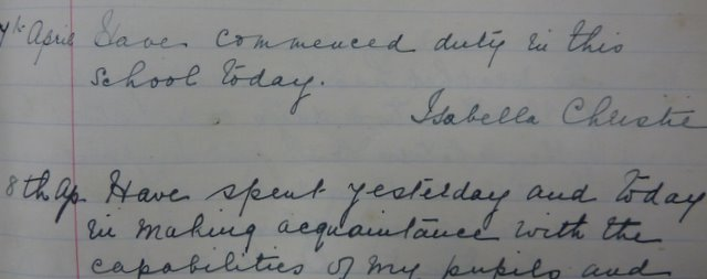 Kallin School Log Book 7 April 1910