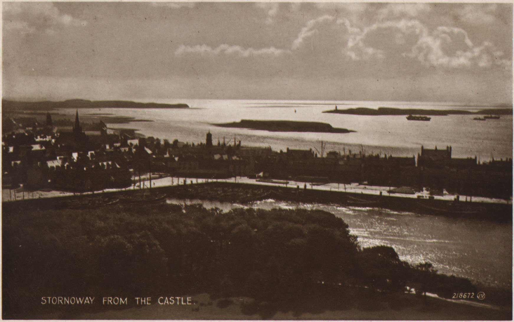A view from Lews Castle over the harbour