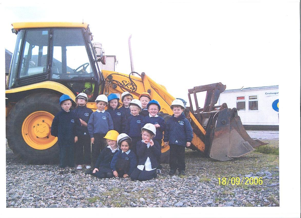 Pupils from Iochdar School in 2006