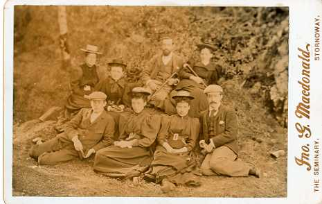Nicolson staff in Lews Castle grounds