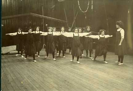 Gym class at the Nicolson Institute, 1911