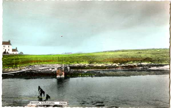 Suspension bridge leading to Sponish House, Lochmaddy