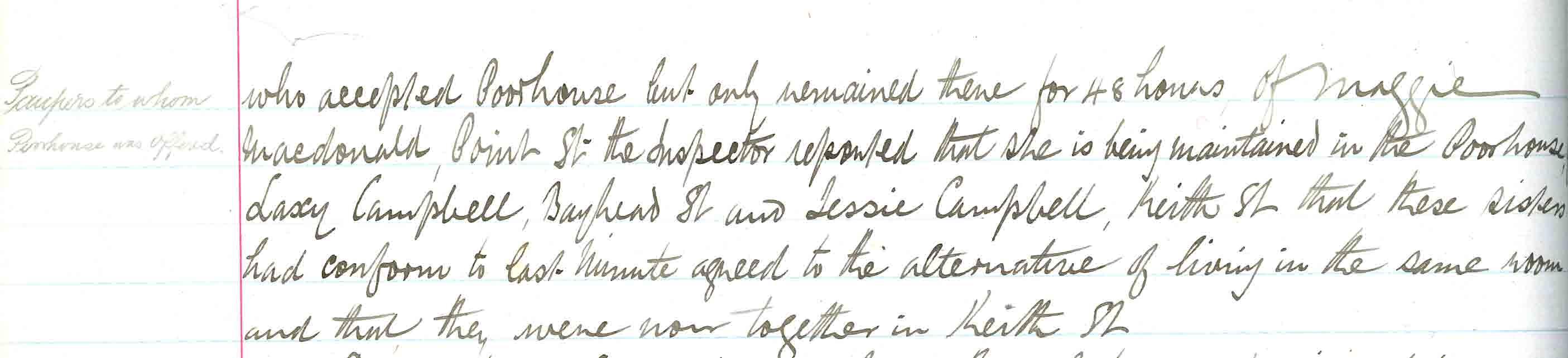 Stornoway Parish Coucnil minute of 8 Dec 1897