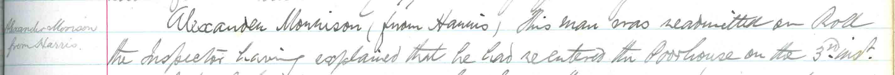 Stornoway Parish Coucnil minute of 31 Aug 1898
