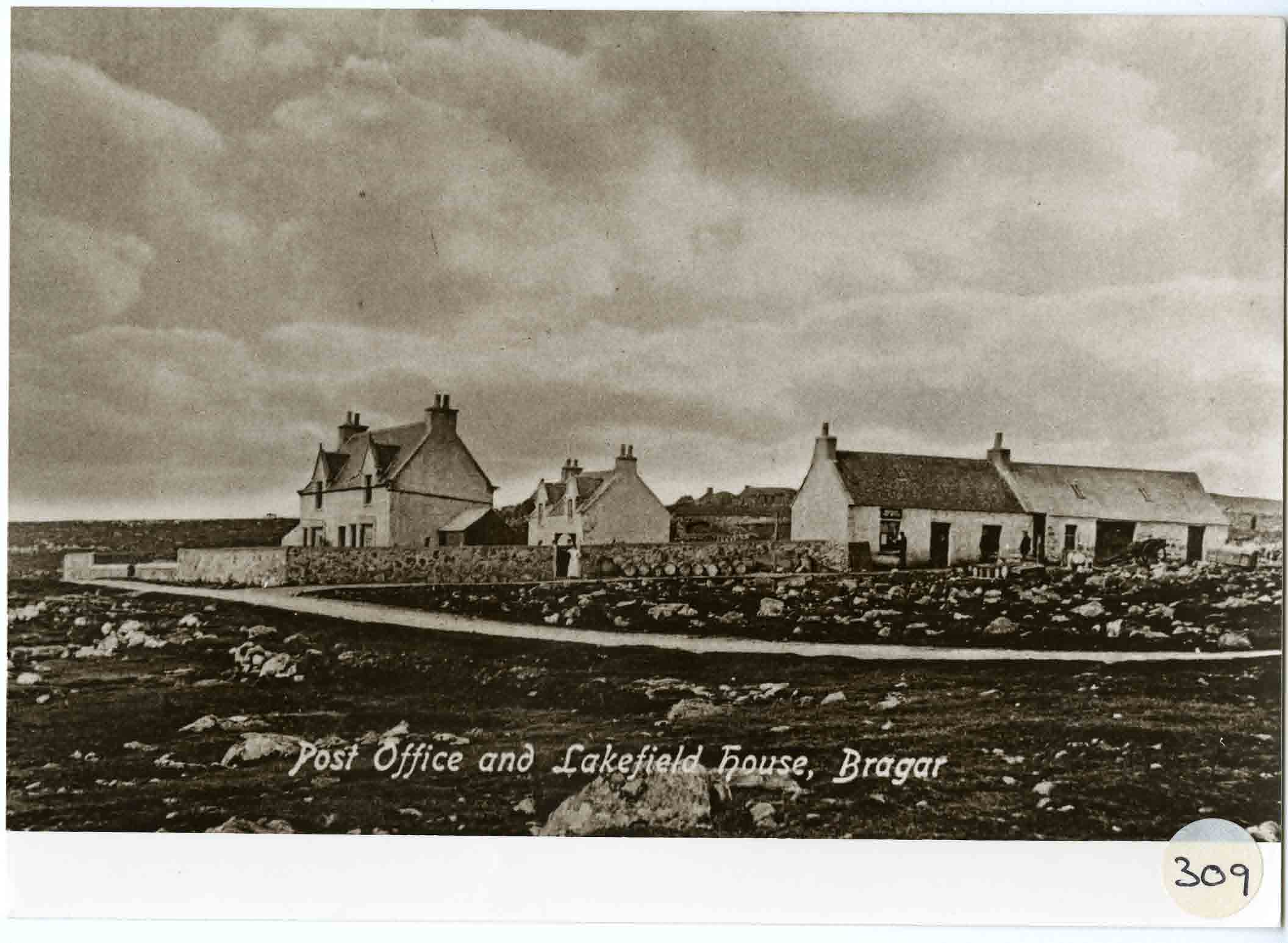 The post office and Lakefield House at Bragar, Lewis