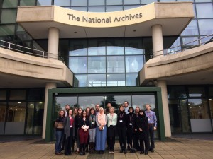 Trainees outside the National Archives