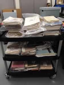 Bagged archives, hugged and ready for the archive