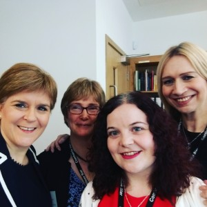 Archive team with the First Minister on the day of the opening.