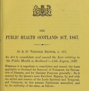 Public Health Scotland Act 1867