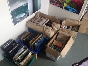 Boxes of records in the HTA offices