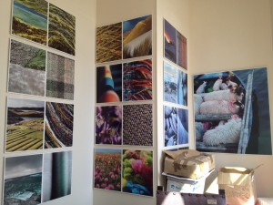 The walls of the HTA offices decorated with Ian Lawson photographs