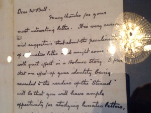 Letter from Sir Arthur Conan Doyle to Mr Joseph Bell