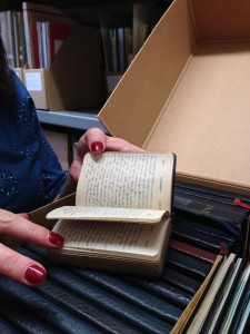 The collection of Muriel Hibbert's diaries from the age of 10 -75 yrs