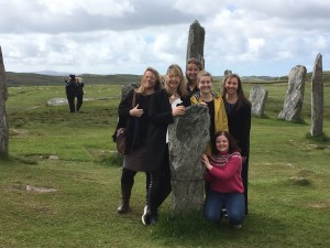 The Skills for the future cohort 3  trainees with Audrey Wilson at Callanish