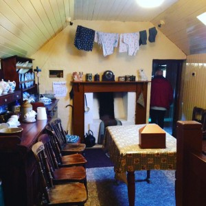 Inside a black house at Gearrannan