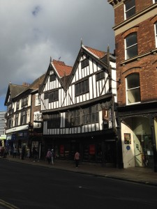 Tudor buildings in York high street