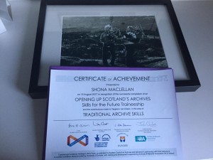 My certificate and print of a Gosta Sandberg photo